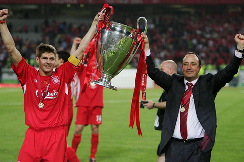 Liverpool pay tribute to club legend Steven Gerrard's 16 ...  Steven Gerrard Champions League