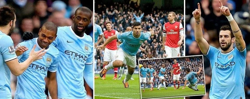 Manchester City 5-2 Arsenal Highlights 2014 Video goals