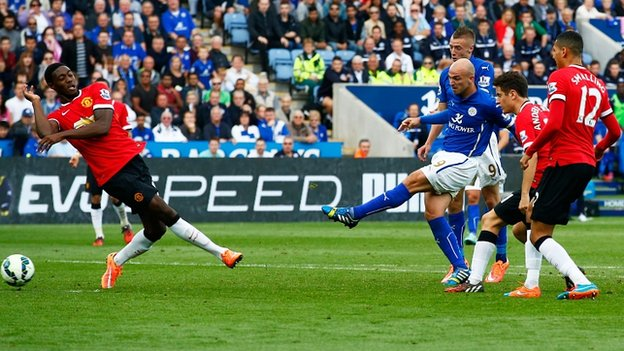 leicester 5-3 united